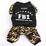 Dog Coat Dog Clothes Sports Cosplay Cowboy Police/Military Hunter Green