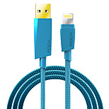 ROCK Lightning MFI Braided Cable For iPhone iPad 120cm PVC Nylon