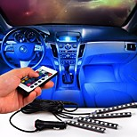 Car Atmosphere lamp Wireless Remote Control Interior Floor Decoration Foot Light Ambient RGB Neon Lamp Strip