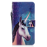For Apple iPhone 7 7 Plus 6S 6 Plus SE 5S 5 Case Cover Unicorn Pattern Painted PU Skin Material Card Stent Wallet Phone Case