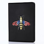 For iPad 2017 9.7inch Luxury Genuine Cases Cover Card Holder with Stand Flip Embossed Pattern 3D Cartoon Bees For iPad Air 2 /ipad Air1