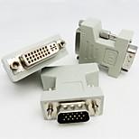 DVI Adaptateur, DVI to VGA Adaptateur Mâle - Femelle 720p Acier nickelé 800 Mbps
