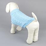 Собака Свитера Одежда для собак На каждый день Сплошной цвет Желтый Красный Зеленый Синий Розовый