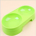 Cat Dog Bowls & Water Bottles Feeders Pet Bowls & Feeding Waterproof Portable Blue Green Red Orange
