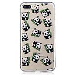Pour apple iphone 7 7 plus 6s 6 plus se 5s 5 panda pattern peint haute pénétration tpu matériel imd process soft case téléphone cas