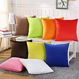 1 Pcs Candy Color Velveteen Pillow Cover 9 Solid Color Pillow Case