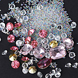 Shaped Color White Diamond Beads Sharp Bottom Drill Elf Glass Beads Mixed
