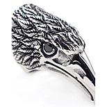 AAA Cubic Zirconia Animal Design Statement Jewelry Classic Stainless Steel Ring Bird Jewelry For Halloween Gift Christmas Gifts