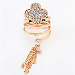 Euramerican FashionElegant  Rhinestone  Flower Tassel Rings Women's Party Daily Rings  Jewelry Gifts