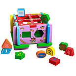 Playhouse Pegged Puzzles For Gift  Building Blocks Natural Wood 3-6 years old Toys
