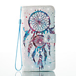 For iPhone 7 7 Plus Card Holder Wallet Pattern Case Full Body Case 3D Cartoon Dream Catcher Hard PU Leather for iPhone 6S/6 Plus 6S 6 SE 5S 5