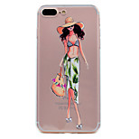 Для яблока iphone 7 7 плюс 6s 6 плюс se 5s 5 чехол для случая сон девушка серия окрашены высокое проникновение tpu материал мягкий чехол