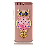 For HUAWEI Y5 Y6 II Case Cover Owl Powder Quicksand TPU Material DIY Stent Phone Case P10 P9 P8 Lite Plus (2017)