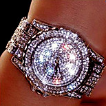 New Luxury Crystal Diamond Watches Women Gold Watch Steel Strip Rose Gold Sparkling Dress Wristwatch relogio feminino