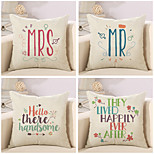 Set Of 4 Hello There Handsome Quotes & Sayings Printing Pillow Cover Creative Pillow Case Sofa Cushion Cover