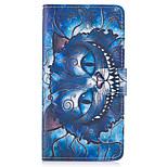 Περίπτωση για το Samsung Galaxy Σημείωση 5 περίπτωσης καλύπτουν τα γαλάζια σκουλαρίκια cat δέρμα