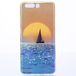 For Huawei P10 TPU Blue sea sailing Case Cover protective cover