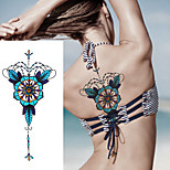 1Pcs Beast Colorful Tattoo Chest Sticker Temporary Tattoo Body Art