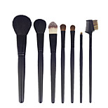 7pcs Black Makeup Brush Set Blush Brush Eyeshadow Eyeliner Brush Eyelash Brush dyeing Brush Powder Brush Sponge Synthetic Hair