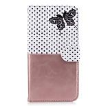 Pour Apple iphone 7 plus 7 sacoche porte-carte porte-monnaie avec support flip pattern plein corps étui papillon pu dur cuir pour 6 6s