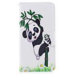iPhone 7plus 7 puhelimen tapauksessa pu nahka panda bambu kuvio maalattu puhelinkotelo 6s plus 6plus 6s 6 SE 5s 5