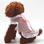 Собака Платья Одежда для собак На каждый день Мода Горох Синий Розовый