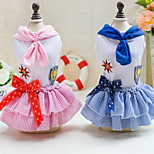 Other Dress Dog Clothes Cute Casual/Daily Wedding Princess Blushing Pink Pool