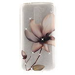For LG K10 K7 Case Cover Magnolia Flower Pattern HD Painted Drill TPU Material IMD Process High Penetration Phone Case K8