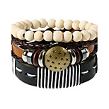 Retro All-Match Folk Style Multi Winding Coconut Shell Bracelet