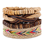 Retro Color Rope Woven Leather Bracelet
