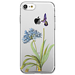 For iPhone 7 Plus 7 Case Cover Transparent Pattern Back Cover Case Animal Flower Soft TPU for iPhone 6s Plus 6s 6 Plus 6 5s 5 SE