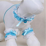 Dog Tuxedo Tie/Bow Tie Dog Clothes Cute Casual/Daily Fashion Lace Light Blue