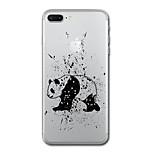 Pour iphone 7 plus7 housse couverture transparent motif couverture arrière panda soft tpu pour iphone 6s plus 6s 6 plus 6 5s 5 se