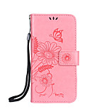 For Apple iPhone 7 7 Plus 6S 6 Plus SE 5S 5 4S Case Cover Butterfly Love Flower Ant Appointment Pattern Embossed Glossy PU Skin Material Phone Case