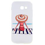 Voor Samsung Galaxy A5 (2017) a3 (2017) telefoon hoesje strand meisje patroon zachte tpu materiaal telefoon hoesje