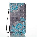 Case for apple iphone 7 плюс 7 держатель карты с кошельком с подставкой флип-патч корпус полный корпус корпус 3d цветок твердая кожа pu