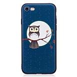 Pour Apple iphone 7 7 plus 6s 6 plus 5s se case cover motif chouette peint en relief feel tpu soft case téléphone casier