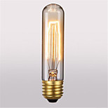 T10 ac220-240v 60w retro atmosfera edison tungstênio seda lâmpada 1pcs