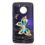 For Motorola Moto G5 Plus Case Cover Butterfly Pattern Relief Back Cover Soft TPU