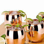 1C Hammered Copper plated Stainless Steel Moscow Mule Mug Drum-Type Beer Cup Coffe Cup Water Glass Drinkware