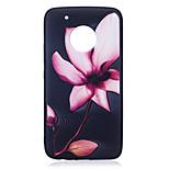 Para el g5 de moto más la cubierta del caso g5 patrón de flor pintado en relieve sensación tpu caja suave del teléfono de la caja