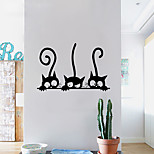Stickers Three Kittens Cats Vinyl Wall Sticker Mural Fridge Wall Decals Art Wallpaper For Kids Baby Room Home Decor Decoration