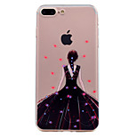 for iPhone 7 Plus 7 Case Cover Ultra-thin Transparent Pattern Back Cover Case Fashion Evening Dress Girl Soft TPU for 6s Plus  6 plus 6 SE 5S 5
