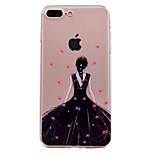 iPhone 7 plus 7 burkolata ultra-vékony, átlátszó minta hátlapot esetben divat este, ruha lány puha TPU a 6S, plusz 6 plusz 6 SE 5s 5