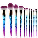10pcs Makeup Brush Set Synthetic Hair