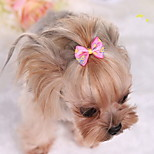 Dog Hair Accessories Dog Clothes Cute Bowknot Blushing Pink Blue Fuchsia