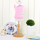 Dog Shirt / T-Shirt Dog Clothes Sports Casual/Daily Cartoon Blushing Pink Pool