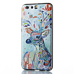 For Huawei Mate 8 Mate 9 Pro Case Cover Sika Deer Pattern Relief TPU Material Phone Case P10 P9 P8 Lite 2017 6X NOVA V9