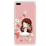 Case For  iPhone 7 7 Plus Cartoon Pattern TPU Soft Back Cover  For iPhone 6 Plus 6s Plus iPhone 5 SE 5s 5C 4s