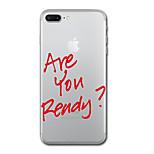 Для iphone 7 плюс 7 чехол для крышки прозрачный узор задняя крышка чехол слово / фраза soft tpu для iphone 6s плюс 6s 6 плюс 6 5s 5 se